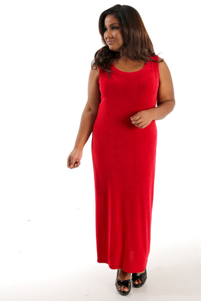 Vikki Vi Classic Red Maxi Tank Dress