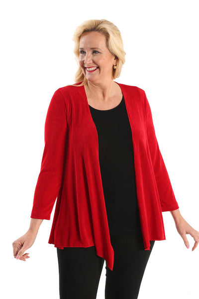 Vikki Vi Classic Red Swing Cardigan