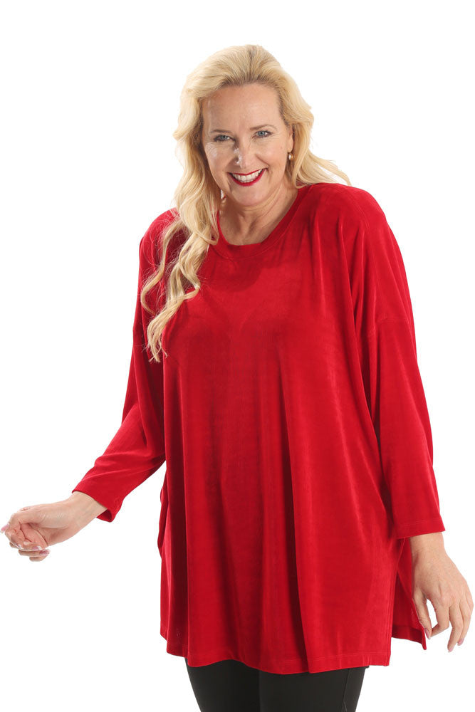 Vikki Vi Classic Red Swing Top