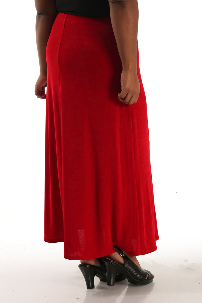 Vikki Vi Classic Red Maxi Skirt