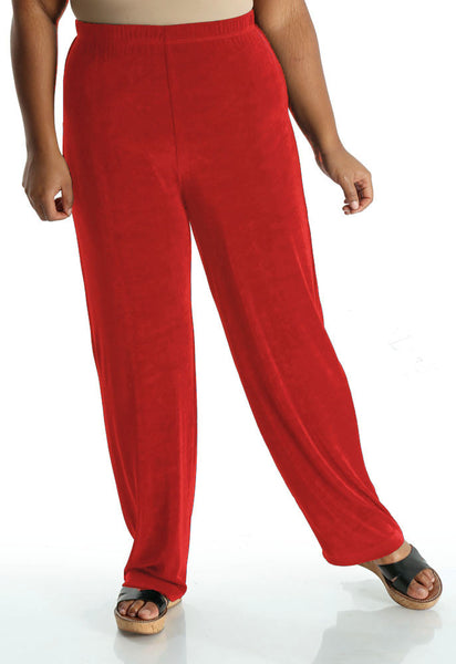 Vikki Vi Classic Red  Pull-On Pant