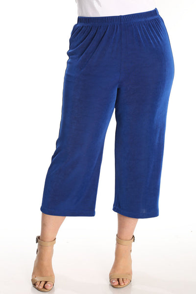 Vikki Vi Classic Royal Blue Crop Pant
