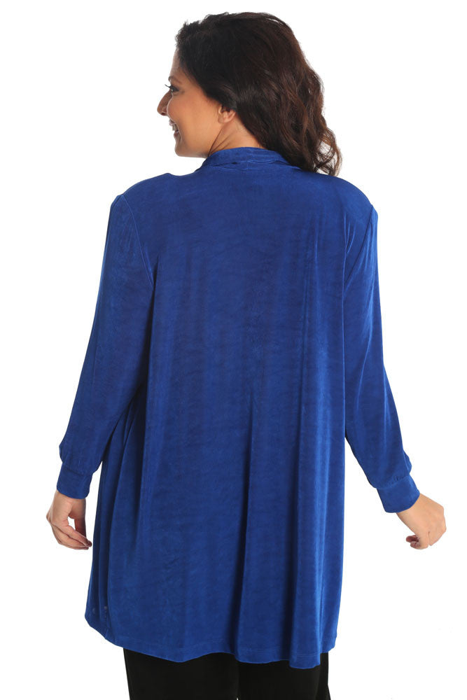 Vikki Vi Classic Royal Blue Long Kimono Jacket