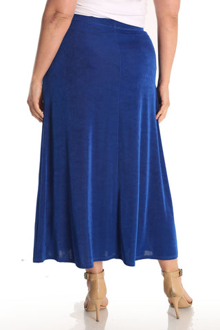 Vikki Vi Classic Royal Blue Maxi Skirt