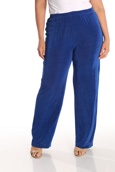Vikki Vi Classic Royal Blue Petite Pull on Pant