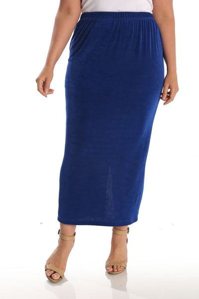 Vikki Vi Classic Royal Blue Straight Maxi Skirt