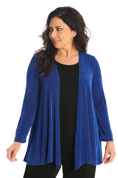 Vikki Vi Classic Royal Blue Swing Cardigan