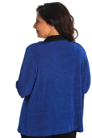 Vikki Vi Classic Royal Blue Tab Collar Jacket