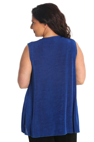 Vikki Vi Classic Royal Blue Swing Vest