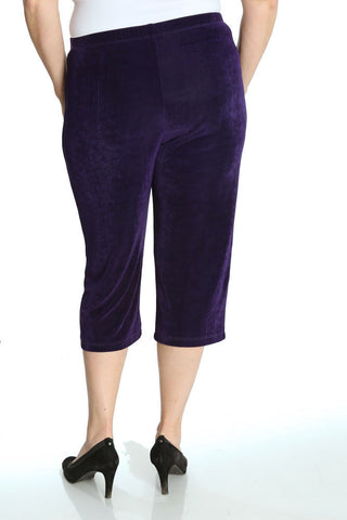 Vikki Vi Classic Royal Purple Crop Pant