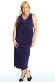 Vikki Vi Classic Royal Purple Maxi Tank Dress