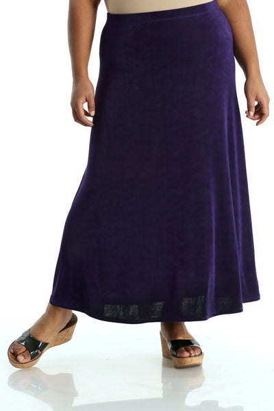 Vikki Vi Classic Royal Purple Maxi Skirt