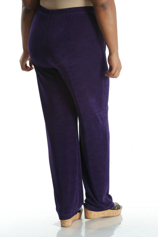 Vikki Vi Classic Royal Purple Petite Pull on Pant