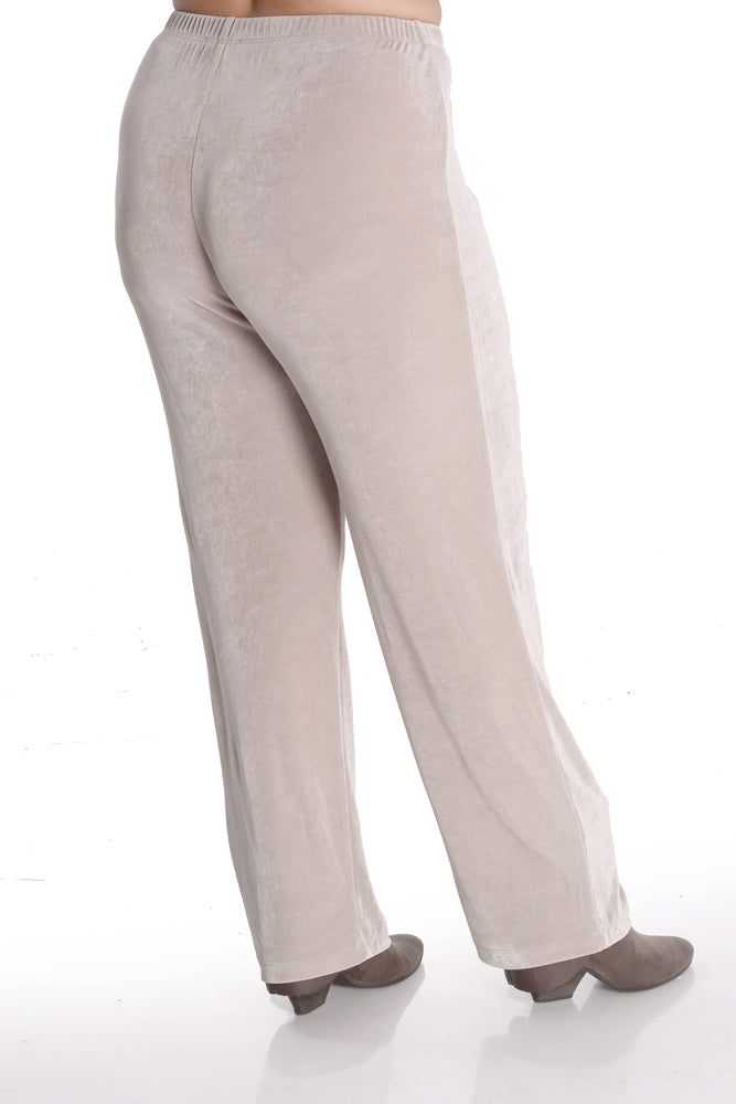 Vikki Vi Classic Light Taupe Petite Pull-On Pant