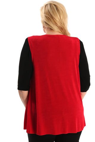 Vikki Vi Classic Red Swing Vest