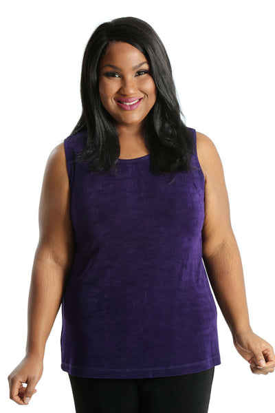 Vikki Vi Classic Royal Purple Sleeveless Shell