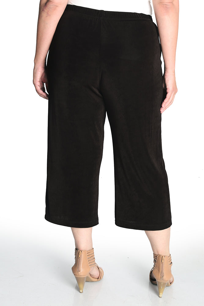 Vikki Vi Classic Coffee Crop Pant