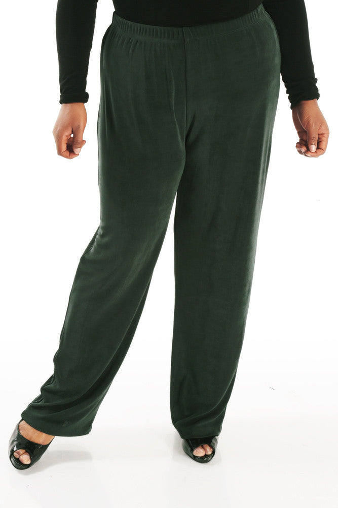 Vikki Vi Classic Deep Emerald Pull-On Pant