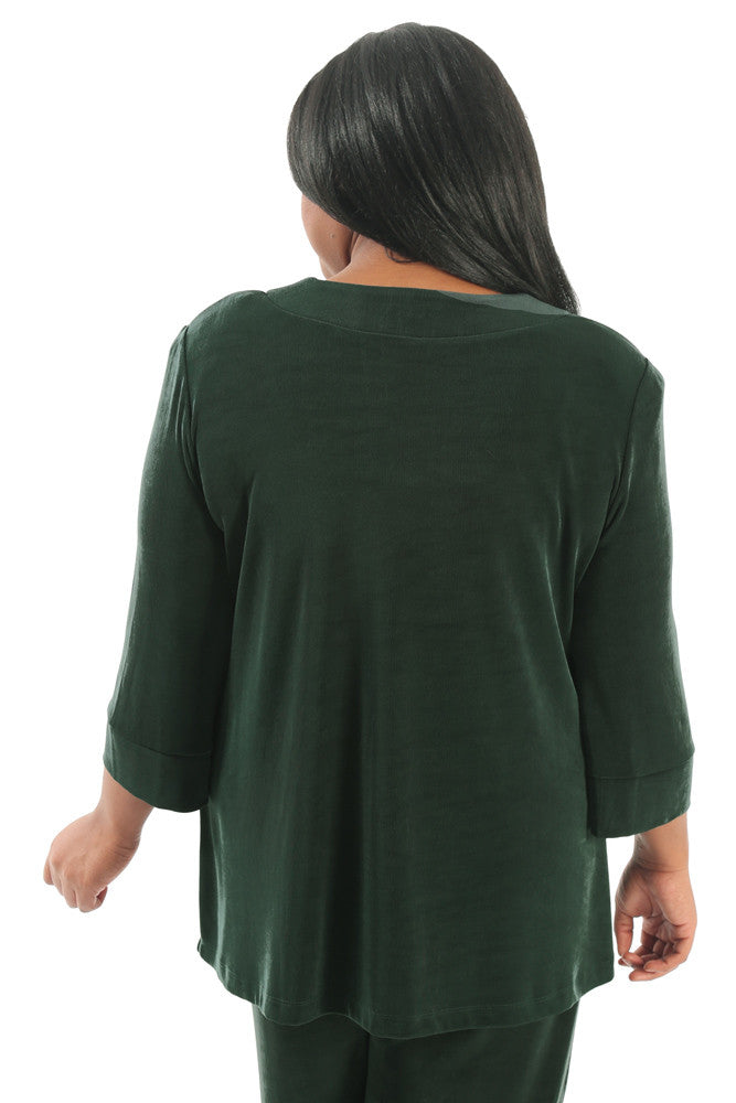 Vikki Vi Classic Deep Emerald Shawl Collar Jacket