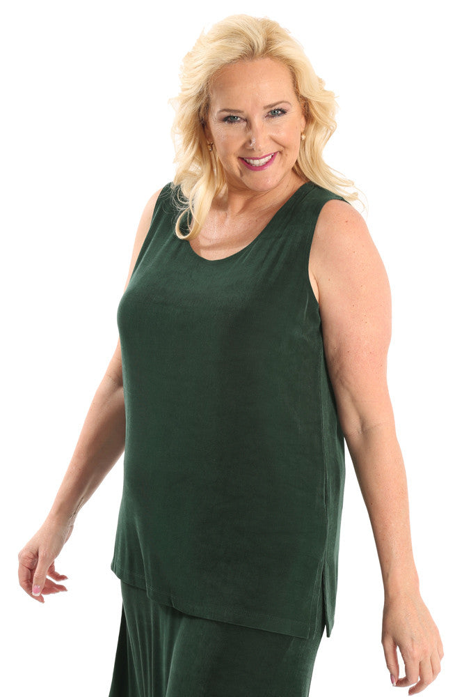 Vikki Vi Classic Deep Emerald Sleeveless Tunic