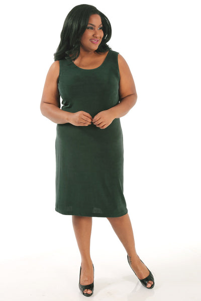 Vikki Vi Classic Deep Emerald Short Shell Dress