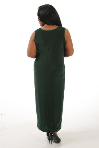 Vikki Vi Classic Deep Emerald Maxi Tank Dress