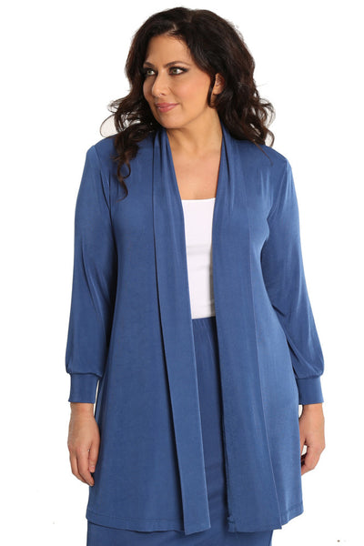 Vikki Vi Classic French Blue Long Kimono Jacket