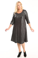 Glamour 3/4 sleeve a line dress