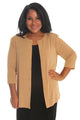 Vikki Vi Classic Golden Wheat 3/4 Sleeve Cardigan