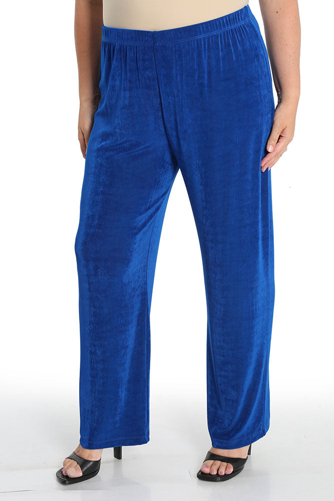 Vikki Vi Classic Royal Blue Petite Pull-On Pant