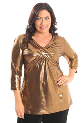 bronze goddess crossover tunic