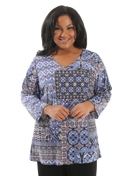 Vikki Vi Pioneer 3/4 Sleeve Top