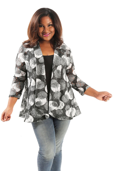 Vikki Vi Manhattan Fit and Flare Cardigan