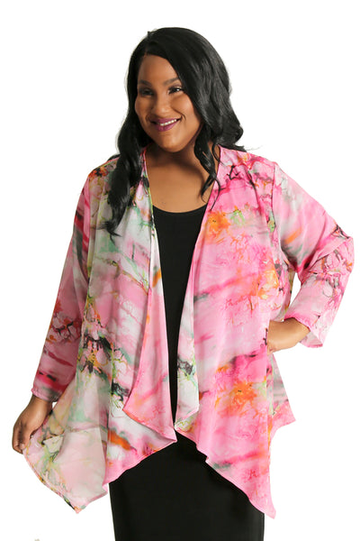 Vikki Vi Monaco Sheer Swing Cardigan