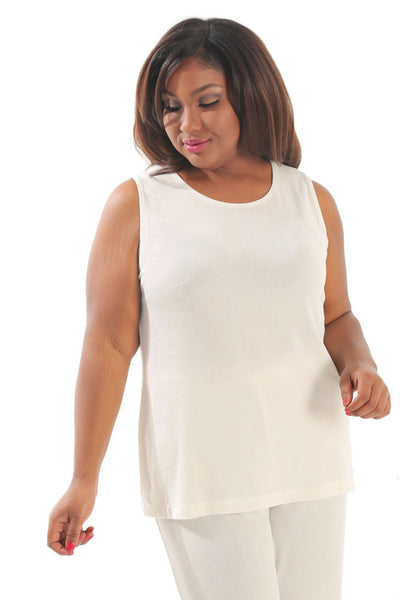 Vikki Vi Classic Natural Sleeveless Shell