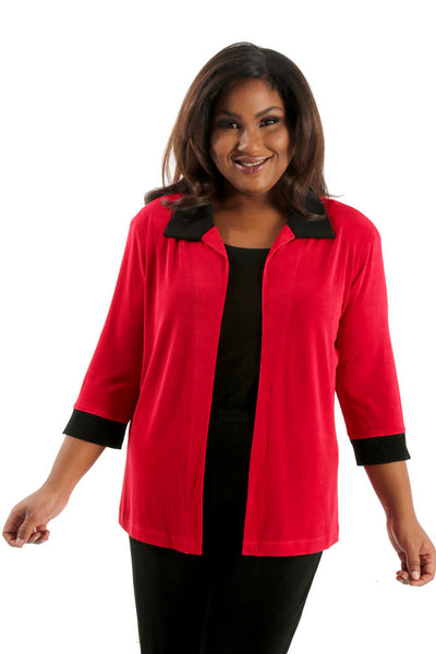 Vikki Vi Classic Red Tab Collar Jacket