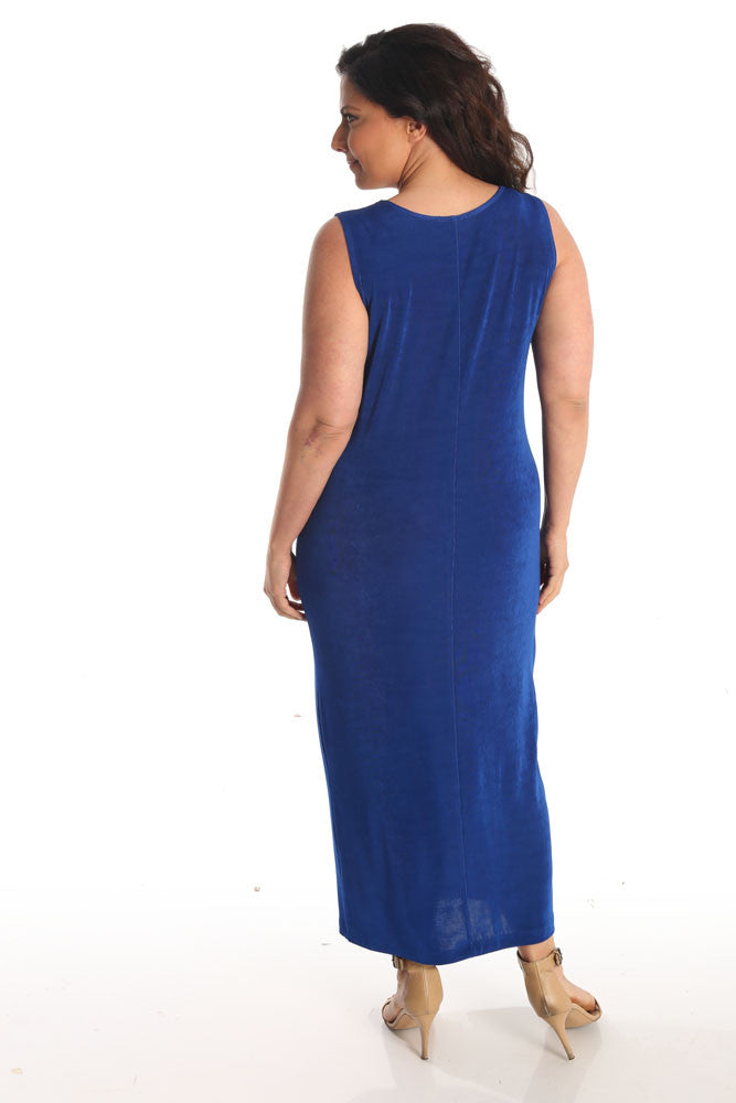 Vikki Vi Classic Royal Blue Maxi Tank Dress