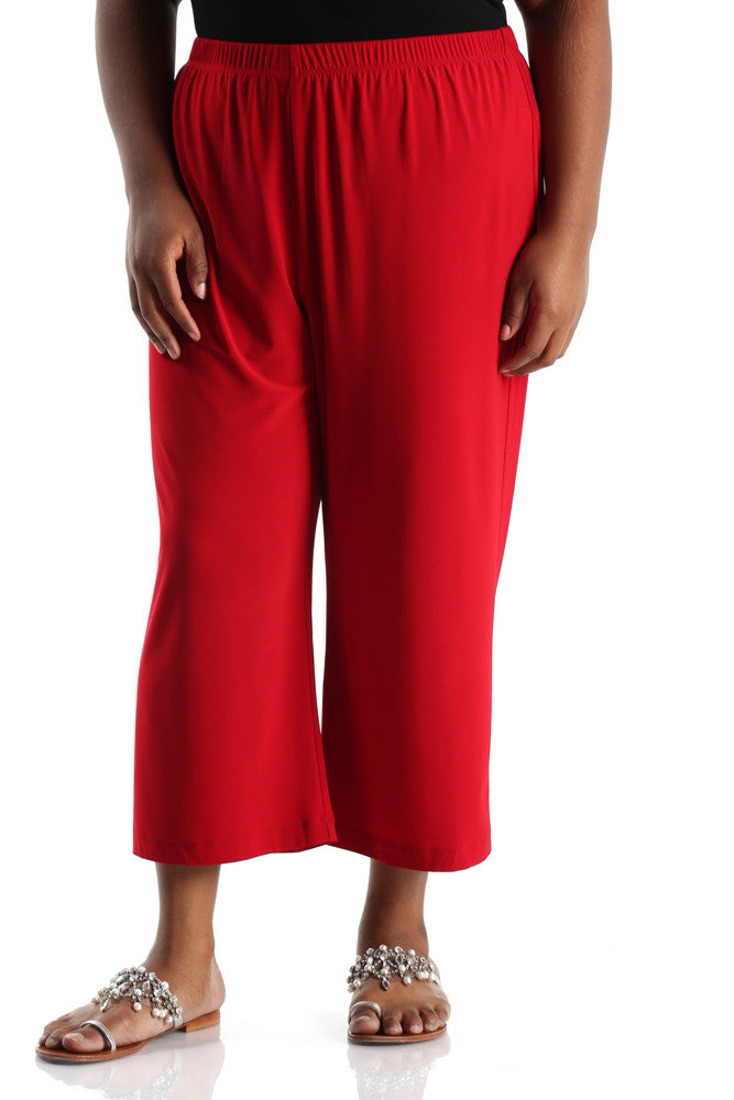Vikki Vi Jersey Rumba Red Crop Pant