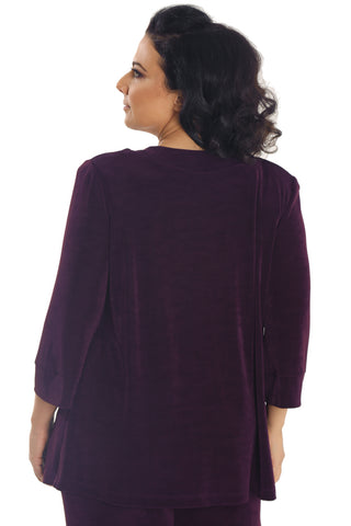 Vikki Vi Classic Sugar Plum Shawl Collar Jacket