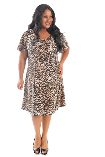 Vikki Vi Jersey Wild Animal T-Shirt Style Dress