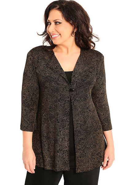 Vikki Vi Classic Cecily One Button Swing Jacket