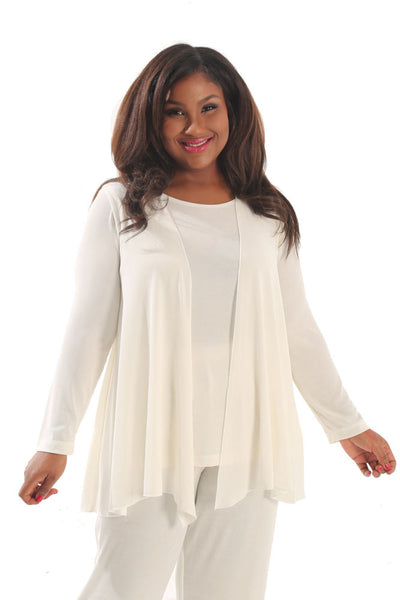Vikki Vi Classic Natural Swing Cardigan