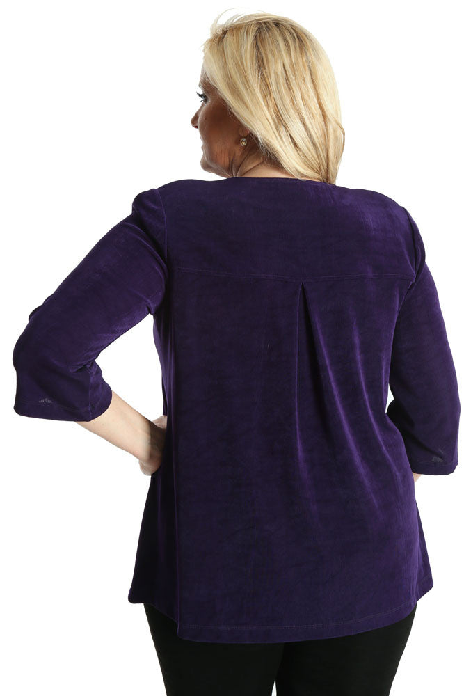 Vikki Vi Classic Royal Purple Swing Jacket