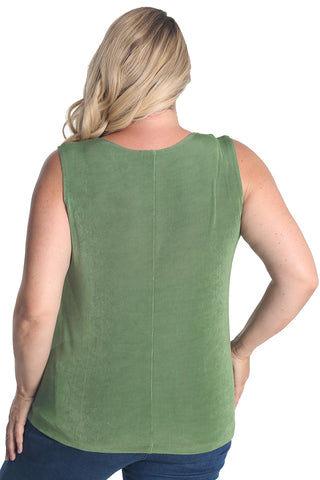 Vikki Vi Classic Rosemary Sleeveless Shell