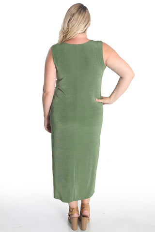 Vikki Vi Classic Rosemary Sleeveless Maxi Tank Dress