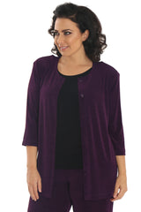 plum plus size twinset
