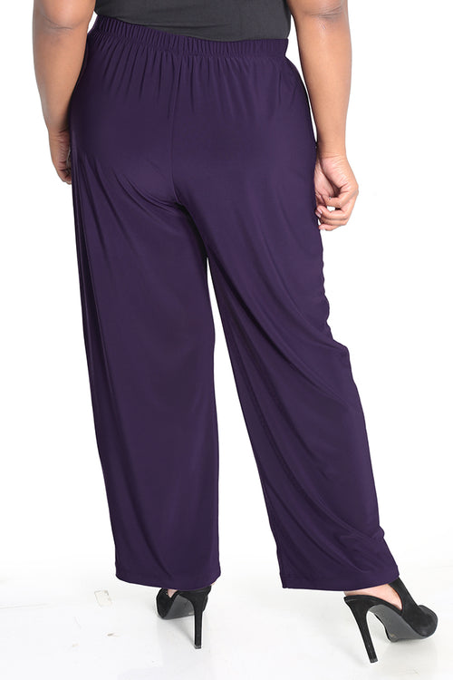 Vikki Vi Jersey Violet Purple Pull on Pant