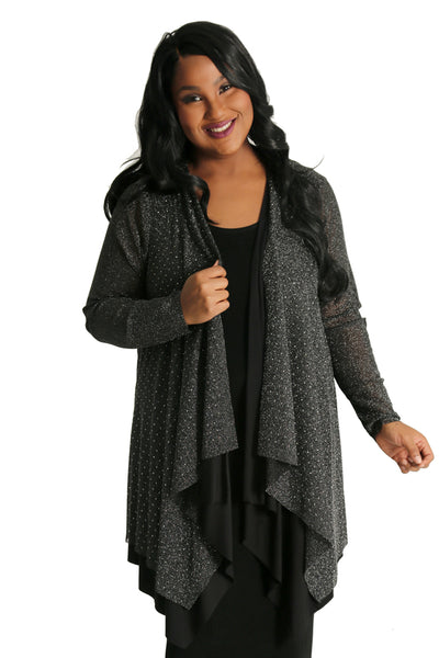 Vocal Glitz and Glamour Layered Cardigan