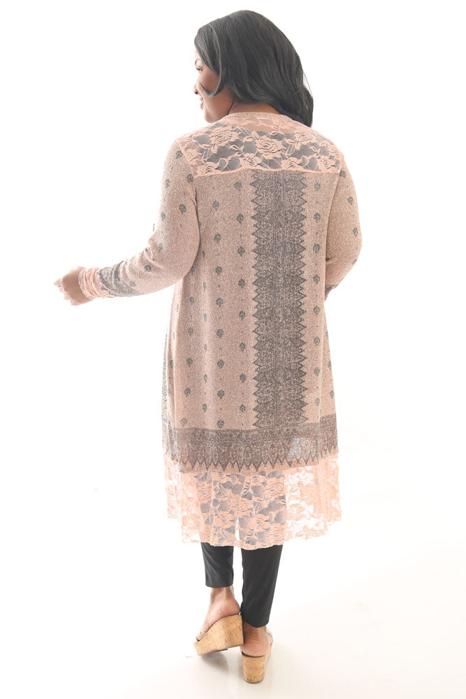 Vocal Rose Romance Sweater Duster