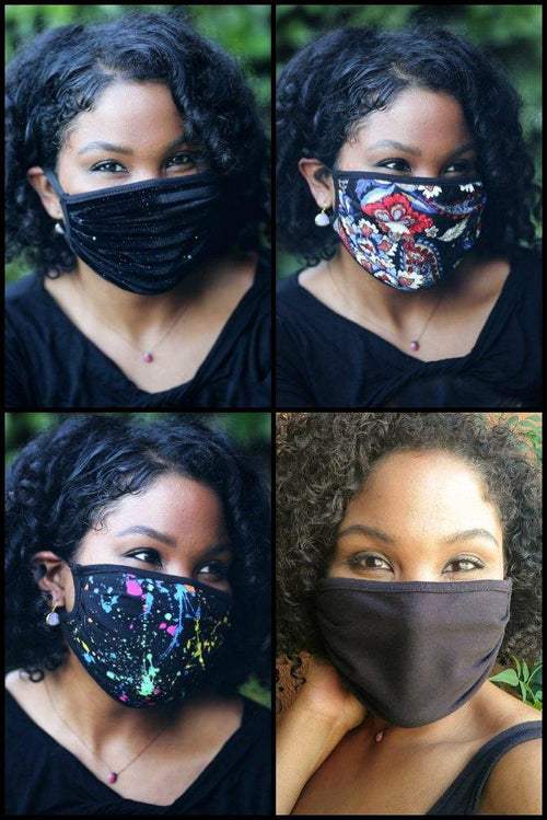 accessory Vikki Vi Washable Back to Black Face Covering 4 Pack